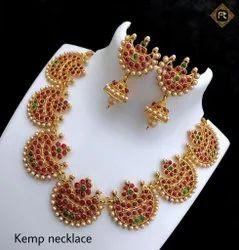 Matte Finish Kemp Necklace Jewellery Set - 100400100