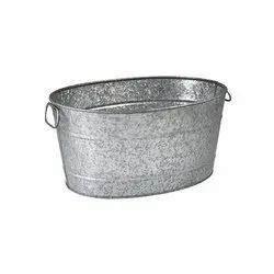 Galvanized Metal Oval Beverage Party Tub Beer Wine Champagne  Beverage Party Tub
