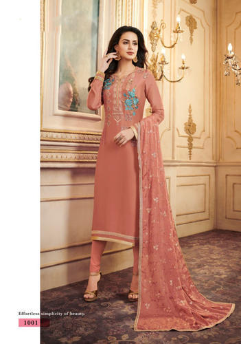 Santoon Trendy Party Wear Semi-Stitched Straight Salwar Suit