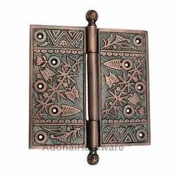 6 inch x 6 inch Brass Decorative Hinge