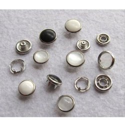 White And Black Pearl Snap Button