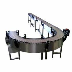 Curved Slat Chain Conveyor
