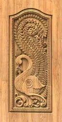 Carving Door Paper Print