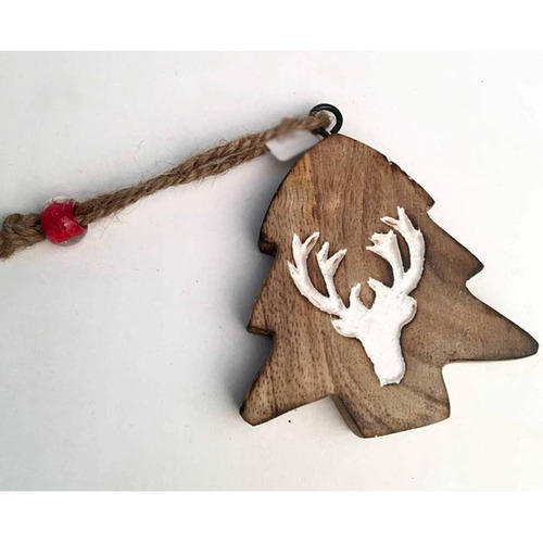 Runescape Christmas 2019.Vixm17005 2019 Best Quality Wooden X Mas Tree Shape Deer Printed Christmas Tree Decorative Hanging O
