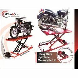 Winnmax MS Pipe Two Wheeler Hydraulic Ramp, Capacity: 210 kg, Warranty: 12 Months