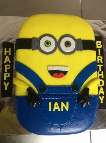 Remarkable Minion Cake Fondant At Rs 1400 Kilogram Cream Cake Id 17373394288 Funny Birthday Cards Online Aeocydamsfinfo