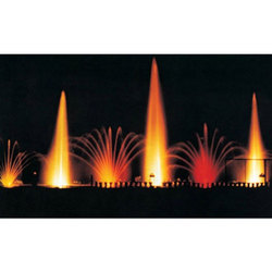 Vertical Jets with Finger Jets Fountain