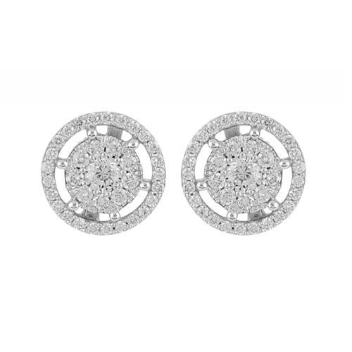 9 Carats Cero Diamond Stud Earrings