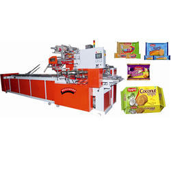 Automatic Family Pack Biscuit Packing Machine, Capacity: 1 Ton