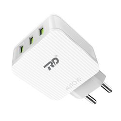 White RD AC-270 Multi USB Universal Travel Charger