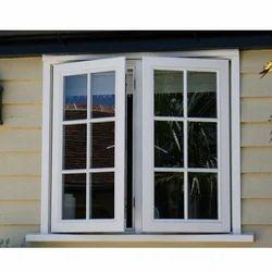 White UPVC Swing Window