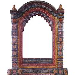 Black Wooden Jharokha
