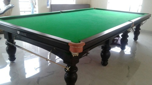 Solid Wood Standard Billiards Table Rs Set Tanishq - How big is a standard pool table