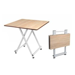 Steel Art Brown Wooden Folding Table, For Home, Size: 24