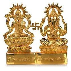 Brass Golden (Gold Plated) Laxmiji Vishnu Murti