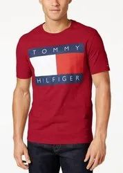 Full Sleeves Round Tommy Hilfiger T Shirt, Size: S-Xxl