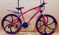 Red color Prime MTB cycle