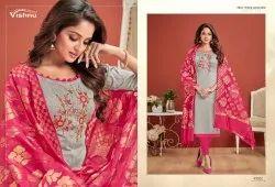 Chahat Vol 3-Vishnu Impex Fancy Cotton  With Banarasi Dupatta Salwar Suits