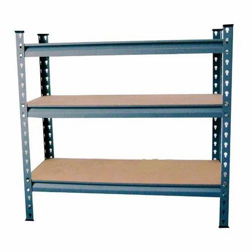 wooden 3 shelves slotted angle racks for warehouse rs 1400 piece rh indiamart com shelves design for warehouse warehouse shelves for components and ammo