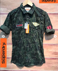 72d5a616 Superdry Army Green Mens Army Print Shirt, Rs 950 /piece | ID ...