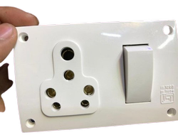 Turbo White 16 AMP Modular Switch Socket Combination