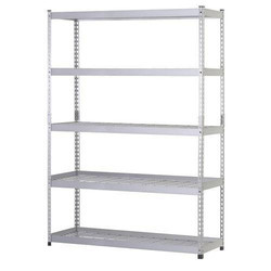 Powder Coated Slotted Angle Storage Rack