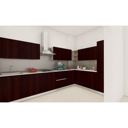 L Shape MDF Modular Kitchen