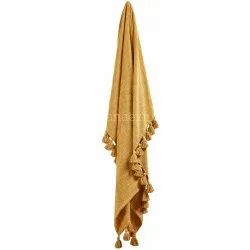 Wholesale Cotton Thick Throws With Tessal