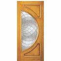 Brown Hinged Exterior Wooden Door