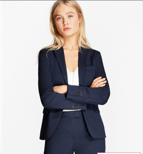 affcf47875 Pinstripe Stretch Wool Dress and Stretch Wool Two Button Jacket ...
