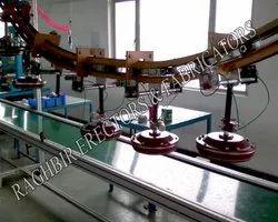 Fan Testing Overhead Conveyor