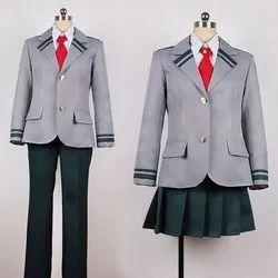 Cotton Winter Girls School Uniform, Packaging Type: Packet