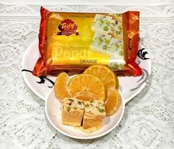 Orange Soan Papdi