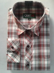 Checks 6 Colors With Big 7 Small Patterns Men's Casual Shirt - Cotton Polyester Mix