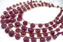 Natural Ruby Heart Shape Beads Faceted 6 mm Strand 10 Inches