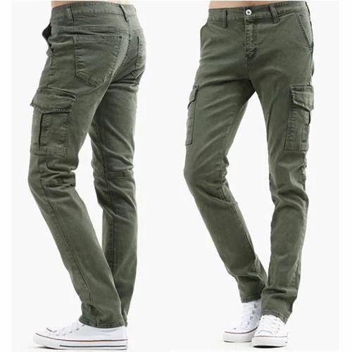 109a2ee26c5 Cotton Linen Men  s Cargo Jeans