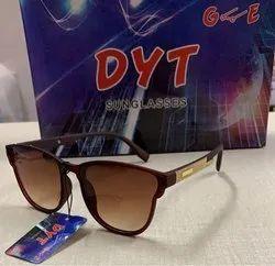Gooe Male DYT Brown Designer Sunglasses, Size: Free
