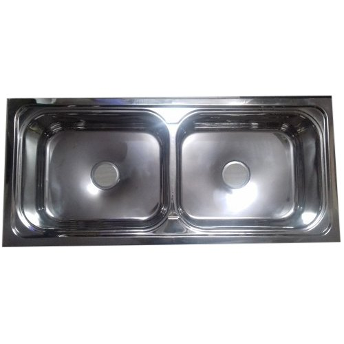 Stainless Steel Double Bowl Kitchen Sink, Size: 45 X 20 X 9 Inch