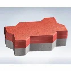 Interlocking Concrete Zigzag Paver Block