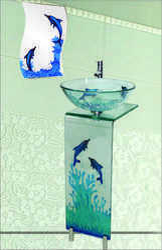 Glass L. Bend Vanity Full Set