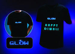 Black Printed Promotion T Shirt With Glow