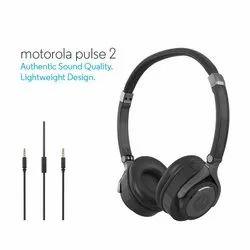 Mobiles,Laptops Motorola Pulse 2 On The Ear Wired Headphones (Black)