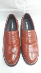 Pure Leather Brown Police Shoes