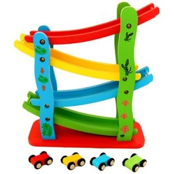 Wooden Car Racing Toy, for School/Play School