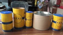 Tin, Corrugated Paper Multicolor Cylindrical Packaging Box, For Storage