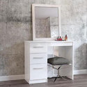 Teak Wood White Contemporary Dressing Table