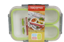 Na Square Airtight Lunch Box, Capacity: Na, For Na