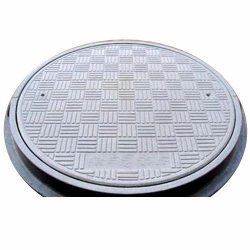Iron/Ductile Iron Round, Full Floor (Square) DI Manhole Cover, | ID: 16790456655