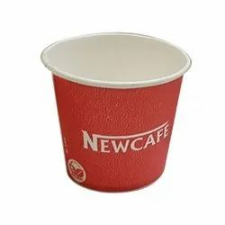 White and Red 140ml Printed Paper Coffee Cup, For Event, Capacity: 140 ml