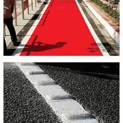 Red Road Marking Paint Cycle track